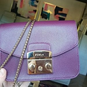 FURLA metropolis leather mini bag armanto (purple)